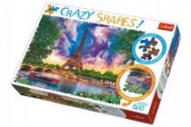 Puzzle Nebo nad Parížom 600 dielikov Crazy Shapes 68x48cm