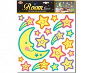 Mesiac a hviezdy nalepovacie - svietiace v tme