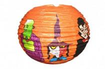 Lampion Halloween průměr 25cm v sáčku (bez hůlky) karneval