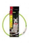 Obojok DOG FANTASY svetelný USB zelený 65 cm 1ks