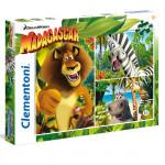 Puzzle Supercolor Madagascar 3x48 dielikov