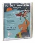Jutová tkanina - 1,3 x 1 m bílá