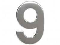 číslo domovej č.9 95mm nerez