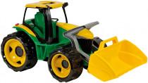 Traktor sa lyžicu zeleno žltý