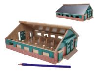 Farma drevená 21x30x11 cm 1:87