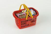Klein Nákupný košík s maketami potravín