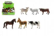 Zvieratko domáci farma plast 10cm asst - mix variantov či farieb