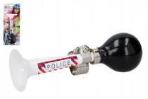 Trumpeta / Klaksón na bicykel polícia kov 18cm