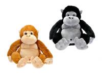Opice plyšová 50 cm sedící - mix barev