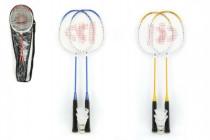 Badminton sada + 3 košíčky Donnay kov 66cm v tašce - mix barev