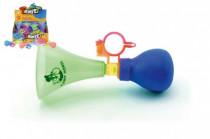 Klaksón trumpeta na bicykel plast 14cm - mix farieb