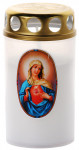 Sviečka Vatikánka veľká s viečkom obtlač 120 g