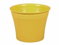Obal na květník MERCEDES plastový žlutý d18x15cm