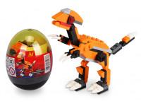 Stavebnica wang - Dinosaur vo vajci (Parasaurolophus - oranžový)