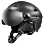 Spokey JASPER lyžiarska prilba s čelným sklom, čierna, veľ. S / M