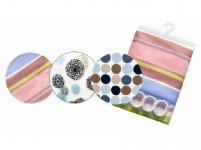 záves kúpeľ. VZOR 180x180cm PVC + 12 háčikov - mix variantov či farieb