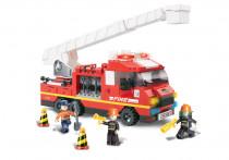 Stavebnice Hasiči - hasičské auto,  270 dílků