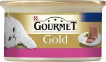 Gourmet Gold cat konz.-jemná paštéta hovädzie 85 g