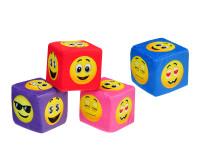 Kocka smajlíci plyšová 8 cm - mix farieb