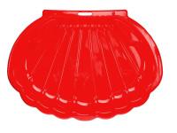 Pieskovisko / bazén v tvare mušle 108x78x18 cm červenej