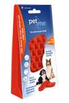 PET and ME kefa pre psov, dlhá srsť, červený