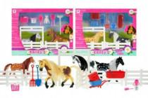 Kôň 11cm 2ks s doplnkami + ohrada ranč - mix variantov či farieb