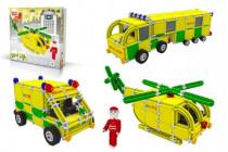 Stavebnica Seva Rescue 3 Záchranári plast
