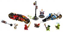 Lego Ninjago 70667 Kaiovi motorka s čepeľami a Zaneov snežný voz