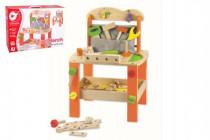 Stůl/Ponk s nářadím dřevo 38ks