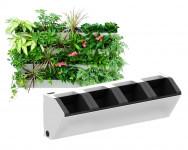 Kvetináč pre vertikálne záhradu, biela farba, GreenSun