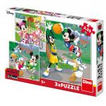 WD Mickey a Minnie športovci 3x55D