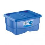 box úložný TRENDYCOLOR 12l, 40x30x18cm s vekom plastový, MO, Ruz