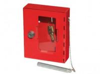 skrinka požiarne na kľúč 150x120x40mm CRV + kladivko