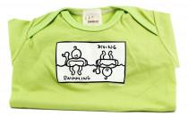 Dětské body Mayaka s krátkým rukávem Swimming/Diving - zelené Vhodné pro věk 3-6 měsíců - VÝPREDAJ