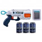 X-SHOT - Reflex pištole + 3 plechovnky a 8 nábojov