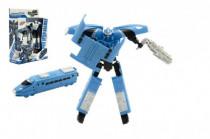 Transformer vlak / robot plast 17cm - mix farieb