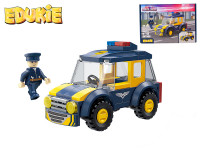EDUKIE stavebnice policejní auto SUV 69 ks + 1 figurka