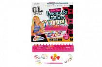 Udělej si náramek - stav na gumičky + 600 gumiček + ozdoby