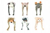 Maska / Čiapky zvieratko plyš 30cm - mix variantov či farieb