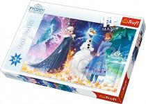 puzzle 24 maxi - Vo svetle hviezd / Ľadové kráľovstvo