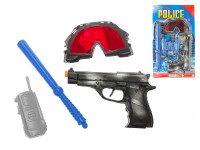 Sada policajný - pištole 20 cm Klapač + 3 doplnky - mix variantov či farieb
