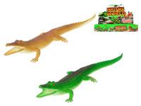 Krokodíl pískací 30 cm - mix farieb