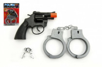Pištoľ na kapsule 8 rán s putami plast 15cm