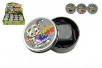 Hmota / plastelína 40g inteligentný magnetická 6cm mix farieb v plechovej krabičke - mix variantov či farieb
