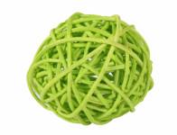 Koule aranžovací ratanová světle zelená 6cm