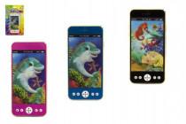 Mobil / telefón plast 13cm na batérie so svetlom so zvukom - mix variantov či farieb
