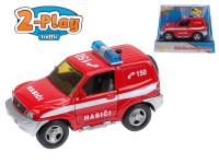 Auto Mitshubishi hasiči kov 12cm na zpětné natažení na baterie 2xLR41 se zvukem se světlem