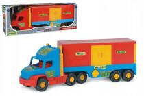 Auto Super Truck návěs s kontejnerem plast 78cm v krabici Wader