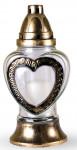 Sviečka sklo Srdce - 80 g (925BZ5673)