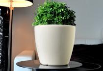 Samozavlažovací kvetináč GreenSun AQUAS priemer 35 cm, výška 34 cm, biely